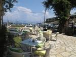 Terrace in Kassiopi, Greece