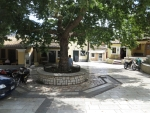 Town square in Liapades, Greece