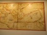 Old map in Mon Repos, Kerkyra, Greece