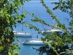 Sailboats off the coast of Corfu, Greece