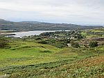 View of the village of Dervaig, Mull