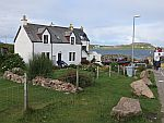 House at the ferry to Iona, Scotland