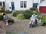 Dolls in the garden, Fionnphort, Scotland