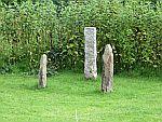 Standing stones on Iona, Scotland
