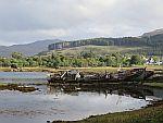 Boat wrecks in the Salen bay, Scotland