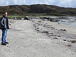 On the beach of Uisken bay, Scotland