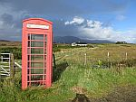 The telephone box in front of our house, Salachran on Mull