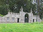 Gate outside Glamis castle, Scotland