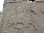 Detail on a Pictish stone from the 8th century, Aberlemno