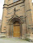 Church door in Montrose, Scotland