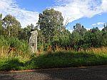Memorial stone along the B9119, Scotland