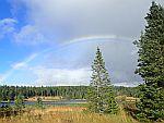 Rainbow above Pronie Loch, Scotland