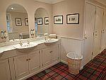 Luxury toilet in Ballindalloch castle, Scotland