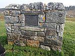 Memorial stone along the river Naver, Scotland