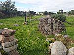 The stone circle at Moyness, Scotland