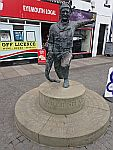 Willie Spears statue in Eyemouth