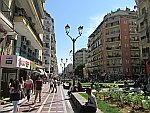 The bustling center of Thessaloniki