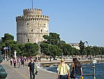 The white tower in the port of Thessaloniki