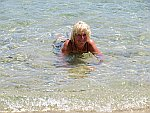 In the sea at Sarti, Sithonia