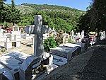 A cemetery in Theologos, Thasos, Greece