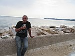 Eating ice cream in Astris, Thassos
