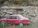 An abandoned car at Maries, Thassos