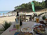 Good food at beach bar Plavoulis