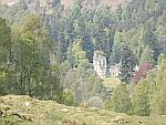 Small castle at the Tummel river