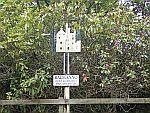 Signpost to Balmanno castle, Scotland