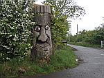 Cut out tree stump near Kingoodie, Scotland