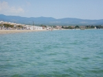 The beach at Kalives, Greece