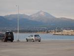 The mountains opposite Thessaloniki, Greece
