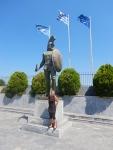 Statue of Leonidas, Sparta, Greece