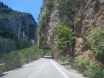 The mountain road from Sparta to Kalamata, Greece