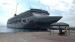 Cruise ship in Katakolo, Greece
