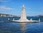 Obelisk in the bay of Argostoli, Greece