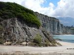 Steep rocky coast at Pessada on Kefalonia, Greece