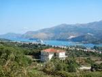 Cruise ship in the bay of Argostoli, Greece