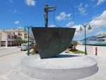 Memorial park in Lixouri, Greece