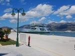 Ferry in Lixouri, Greece