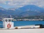 The mountains of Kefalonia from Lixouri, Greece