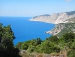The coast at the monastery Kipoureon, Kefalonia, Greece