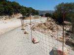 Sinking road on Kefalonia, Greece