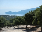 View from the monastery in Pilaros, Kefalonia, Greece