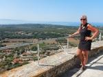At the Venetian castle St. George, Kefalonia, Greece
