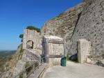 Entrance to the Venetian castle St. George, Kefalonia, Greece