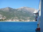 Poros, Kefalonia, from the ferry, Greece