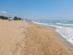The beach at Zacharo, Greece