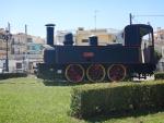 Steam locomotive in Mesolongi, Greece