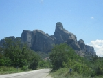 We are approaching the Meteora, Greece